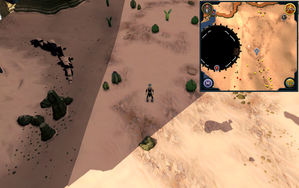 Scan clue Kharidian Desert east of Dominion Tower.png