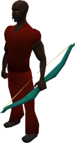 Magic shortbow equipped.png: Magic shortbow equipped by a player