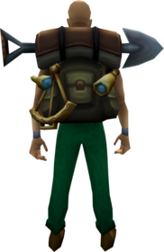 Globetrotter backpack equipped.png: Globetrotter backpack equipped by a player