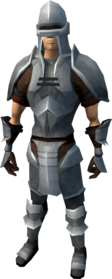 Iron armour (heavy) equipped (male).png: Iron gauntlets equipped by a player