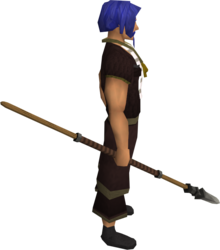 Iron spear equipped.png: Iron spear equipped by a player