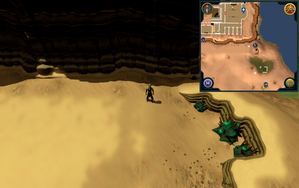 Scan clue Kharidian Desert south-east of Citharede Abbey.png