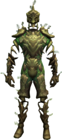 Willow sentinel outfit equipped.png: Willow sentinel trunks equipped by a player