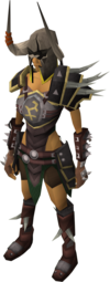 A female player wearing Bandos