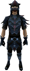 Black dragonhide armour equipped (male).png: Black dragonhide body equipped by a player