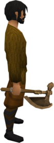 Bronze battleaxe equipped.png: Bronze battleaxe equipped by a player