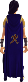 Agility cape equipped.png: Agility cape equipped by a player