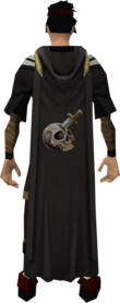Hooded slayer cape equipped.png: Hooded slayer cape equipped by a player