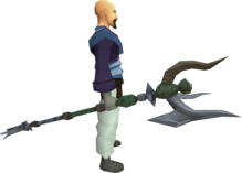 Penance master trident equipped.png: Penance master trident equipped by a player