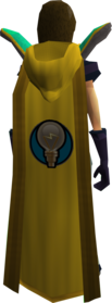Retro hooded invention cape equipped.png: Hooded Invention cape equipped by a player