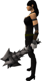 Off-hand drygore mace (Third Age) equipped.png: Off-hand drygore mace (Third Age) equipped by a player