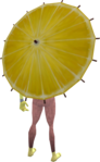 Lemon parasol equipped.png