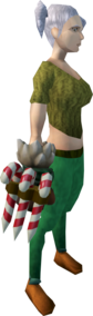 Santa claws equipped.png