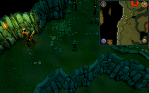 Scan clue Brimhaven Dungeon upper level south of fire giant area.png