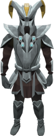 Gorgonite armour (heavy) equipped (male).png: Gorgonite gauntlets equipped by a player