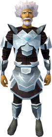 Gorgonite armour (light) equipped (male).png: Gorgonite chainbody equipped by a player