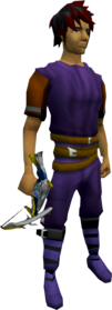 Augmented Armadyl crossbow equipped.png: Augmented Armadyl crossbow equipped by a player