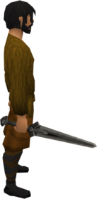 Iron longsword equipped.png: Iron longsword equipped by a player