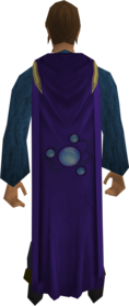 Divination cape equipped.png: Divination cape equipped by a player