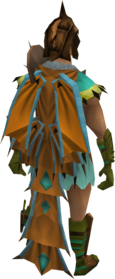 Dragon Rider cape equipped.png: Dragon Rider cape equipped by a player