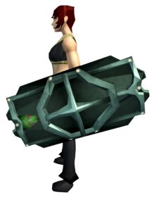 Adamant shield (h4) equipped.png: Adamant shield (h4) equipped by a player