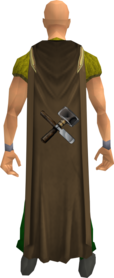 Crafting cape equipped.png: Crafting cape equipped by a player