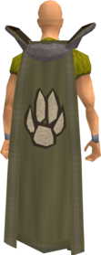 Retro hunter cape equipped.png: Hunter cape equipped by a player