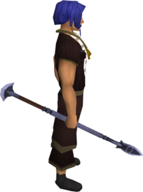 Mithril spear equipped.png: Mithril spear equipped by a player