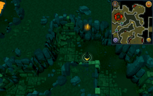 Scan clue Brimhaven Dungeon lower level north-east of stepping stones.png