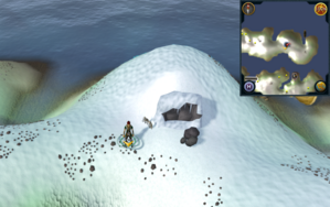 Scan clue Fremennik Isles outside eastern cave on northern snowy island.png