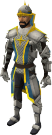 Demon slayer armour equipped (male).png: Demon slayer torso equipped by a player