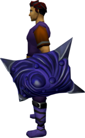 Abyssal bane square shield equipped.png: Abyssal bane square shield equipped by a player