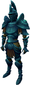 Elder rune armour + 5 equipped (male).png: Elder rune platelegs + 5 equipped by a player
