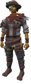Master archaeologist's outfit equipped.png: Master archaeologist's jacket equipped by a player