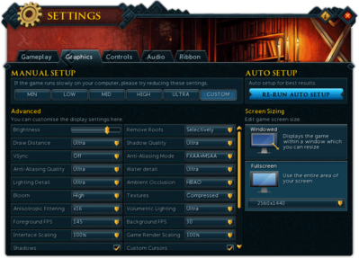 Graphics settings - The RuneScape Wiki
