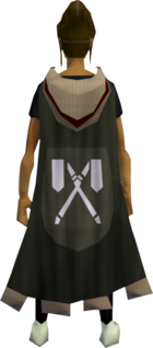 Castle Wars flag cape equipped (female).png: Castle Wars flag cape equipped by a player