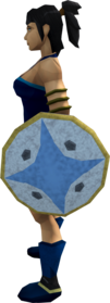 Falador shield 1 equipped.png: Falador shield 1 equipped by a player