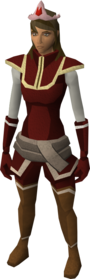 Fire tiara equipped.png: Fire tiara equipped by a player