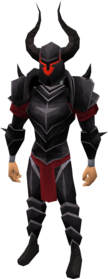 Bugged black armour equipped.png: Black full helm (bugged) equipped by a player