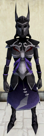 Virtus armour equipped (female).png: Virtus robe legs equipped by a player