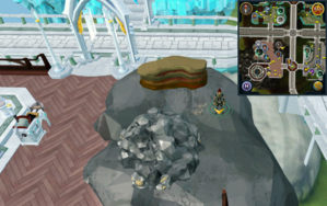 Scan clue Prifddinas Ithell next to crystal-flecked sandstone.png