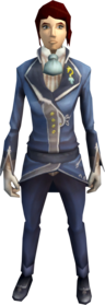 Tuxedo outfit equipped (female).png: Tuxedo jacket equipped by a player