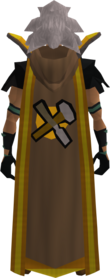 Retro hooded crafting cape (t) equipped.png: Hooded crafting cape (t) equipped by a player