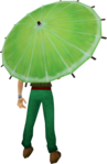 Lime parasol equipped.png