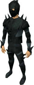 Superior spined armour equipped (male).png: Superior spined boots equipped by a player