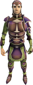 Carapace armour equipped (male).png: Carapace legs equipped by a player