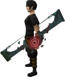 Slayer Tower shortbow equipped.png: Slayer Tower shortbow equipped by a player