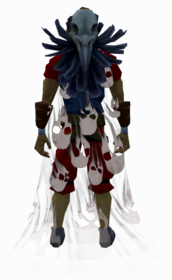 Soul cape (white) equipped.png: Soul cape (white) equipped by a player