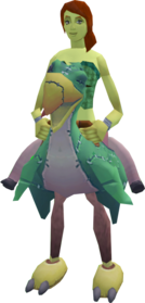 Terrorbird mount (green) equipped.png: Terrorbird mount (green) equipped by a player