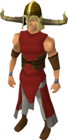 Warrior helm (charged) equipped.png: Warrior helm (charged) equipped by a player
